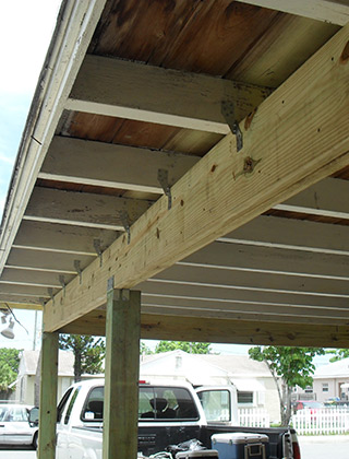 Wood Beam and Column Replacement